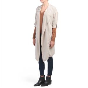 Philosophy | Tan Open Front Lightweight Trench | M